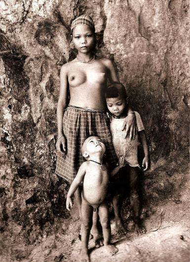 Jeune femme et enfants Palawans | Philippines